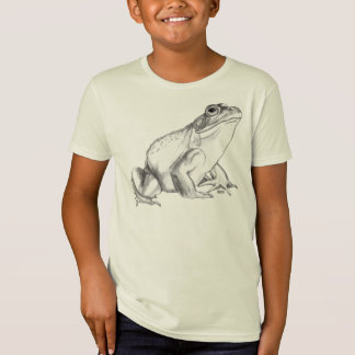 Frog Shirt Bullfrog Art T-shirt Organic Kid's Tee