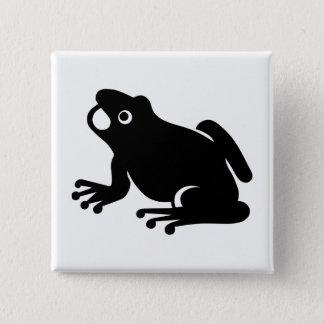 Frog Silhouette 15 Cm Square Badge