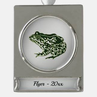 Frog Silver Name and Year Silver Plated Banner Ornament