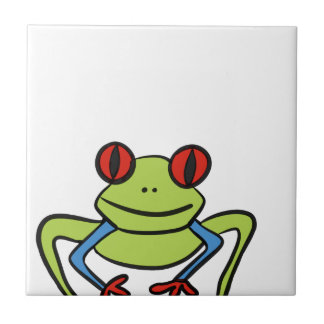 Frog Small Square Tile