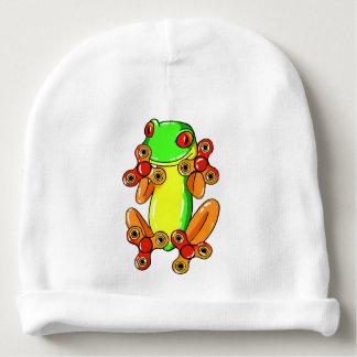 Frog spinner baby beanie