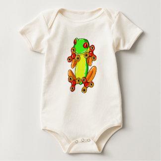 Frog spinner baby bodysuit