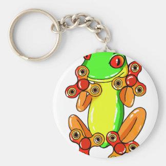 Frog spinner key ring