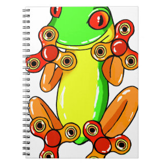 Frog spinner notebook