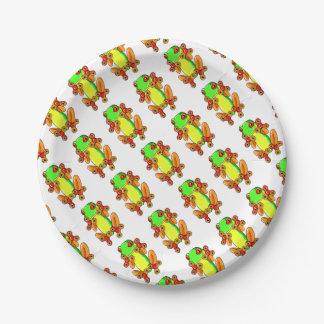 Frog spinner paper plate