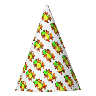 Frog spinner party hat