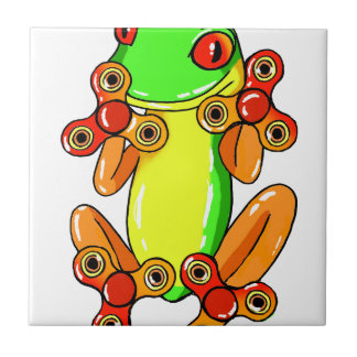 Frog spinner small square tile