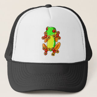 Frog spinner trucker hat