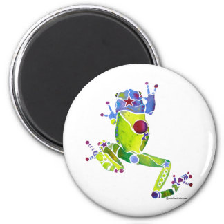 Frog Spring Green 6 Cm Round Magnet