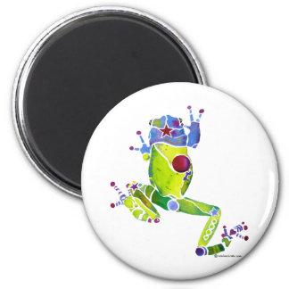 Frog Spring Green Fridge Magnets