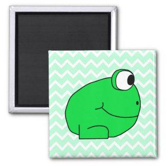 Frog. Square Magnet