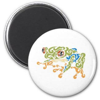 Frog Squirels 6 Cm Round Magnet