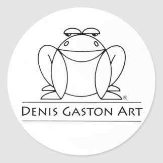 Frog sticker for Denis Gaston Art