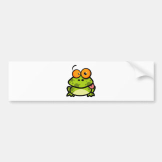 Frog Sticking Out His Tongue Bumper Sticker