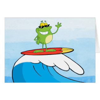 FROG SURFING CARD