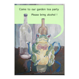 frog tea party card