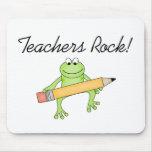 Frog Teachers Rock Mouse Pad