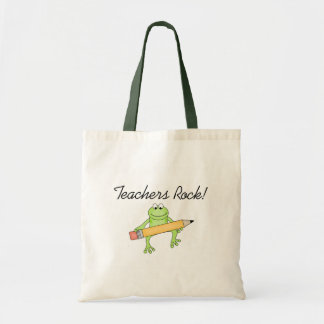 Frog Teachers Rock Tote Bag