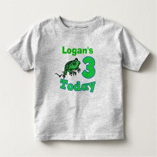 Frog Third Birthday Boy Shirt
