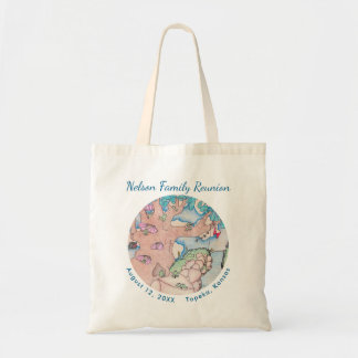 Frog Treehouse Family Reunion Tote Bag, Custom rv