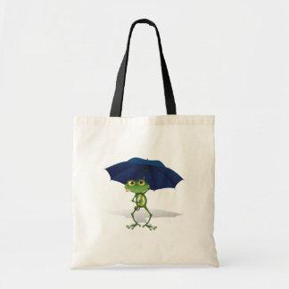 Frog Under An Umbrella Tote Bag