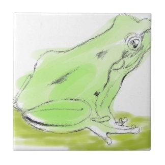 Frog water color ceramic tile