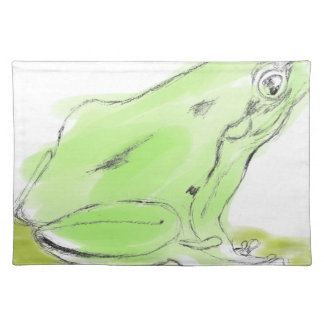 Frog water color placemat