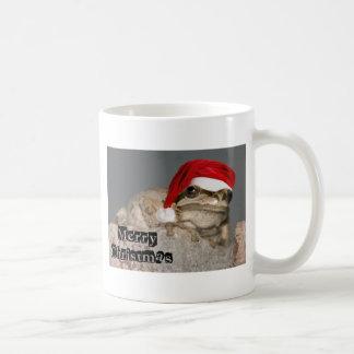 Frog with a Santa Hat Coffee Mug