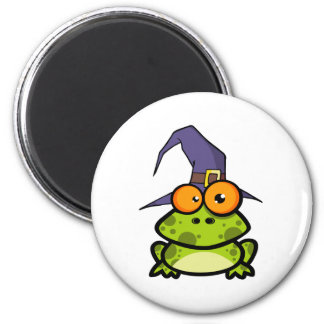 Frog With A Witch Hat 6 Cm Round Magnet