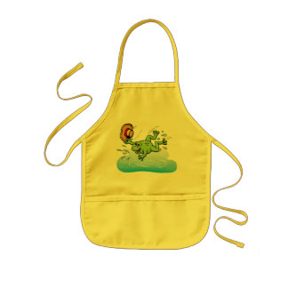 Frog with Hat Kids Apron