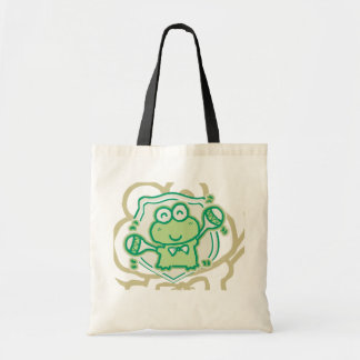 Frog with Maracas Tshirts and Gifts Budget Tote Bag