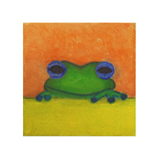 frog wood wall decor