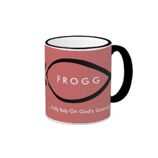 FROGG (Fully Rely On God's Grace) Mug