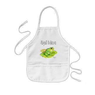 """Froggert"" Child's Classroom Arts/Crafts Kids Apron"