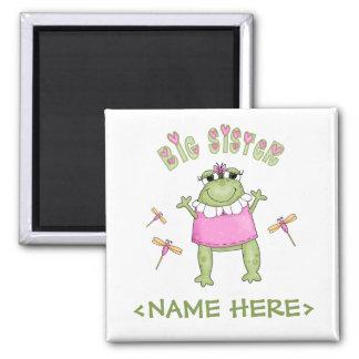 Froggie Big Sister Square Magnet
