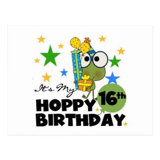 Froggie Hoppy 16th Birthday Postcard