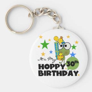Froggie Hoppy 30th Birthday Basic Round Button Key Ring