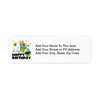 Froggie Hoppy 40th Birthday Return Address Label