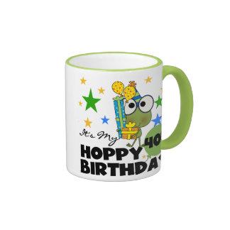 Froggie Hoppy 40th Birthday Coffee Mugs