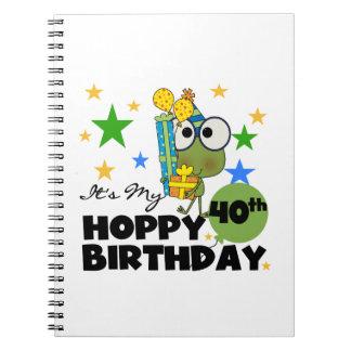 Froggie Hoppy 40th Birthday Spiral Note Books
