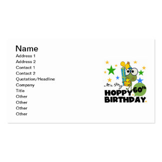Froggie Hoppy 60th Birthday Pack Of Standard Business Cards
