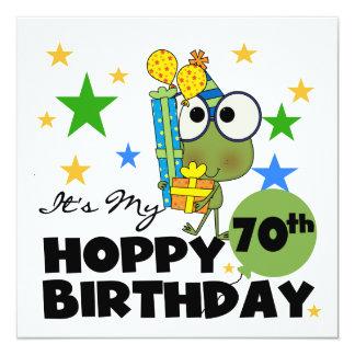 Froggie Hoppy 70th Birthday Card