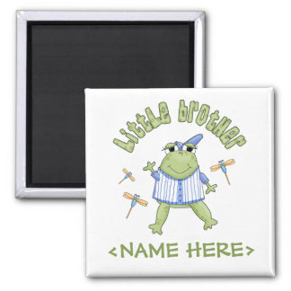 Froggie Little Brother Square Magnet