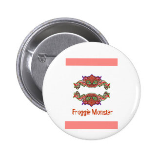 Froggie Monster - Frog Cartoon Buttons
