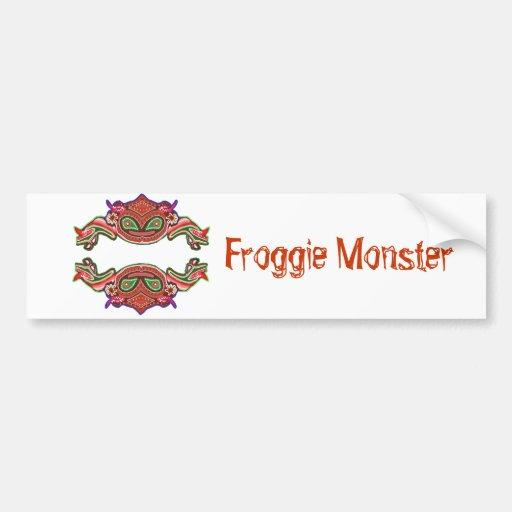 Froggie Monster - Frog Cartoon Bumper Stickers