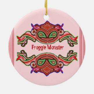 Froggie Monster - Frog Cartoon Christmas Tree Ornament