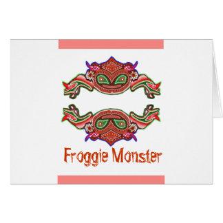 Froggie Monster - Frog Cartoon Greeting Card