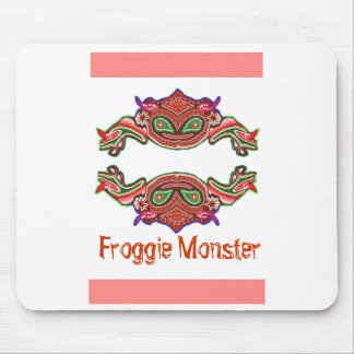 Froggie Monster - Frog Cartoon Mouse Pad