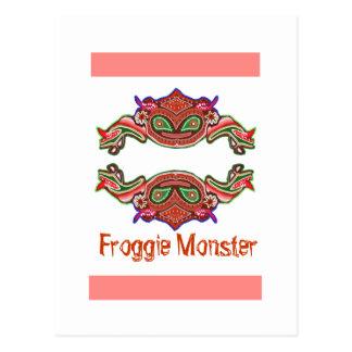 Froggie Monster - Frog Cartoon Postcard