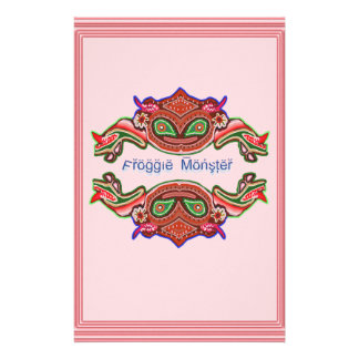 Froggie Monster - Frog Cartoon Stationery